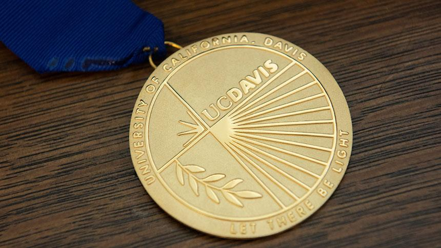 The UC Davis Medal recognizes individuals of rare accomplishment. (Karin Higgins / UC Davis)