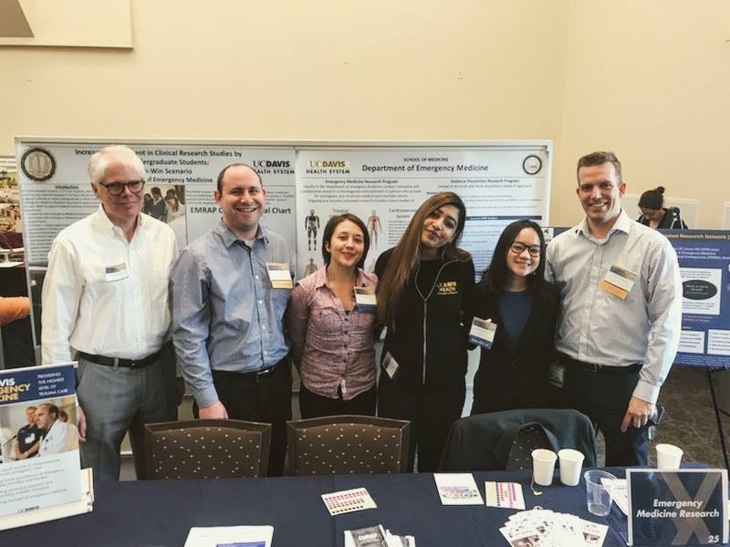 EMRAP joined UC Davis Department of Emergency Medicine Research Team, UC Davis Health Violence Prevention Team, and Pediatric Emergency Care Applied Research Network (PECARN) at the 2018 UC Davis Research Expo