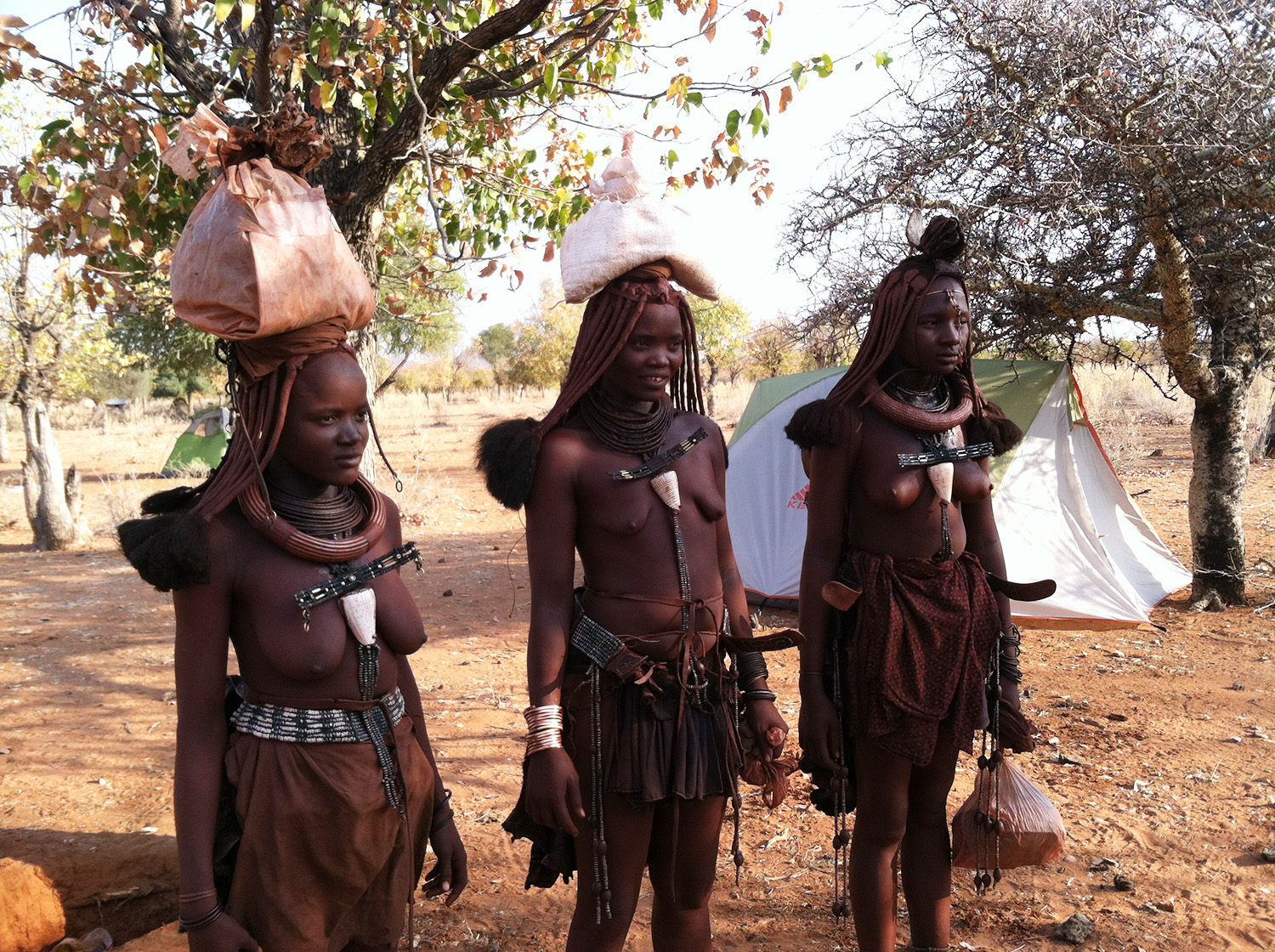 Members of the Himba population
