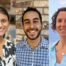 Left to right: Priya Shah, Samuel Díaz-Muñoz and Laci Gerhart-Barley join the College of Biological Sciences.