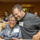 Jonathan Eisen, along with his mother, Laura, celebrate at the ADVANCE Award ceremony. (UC Davis)