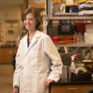 Assistant Professor Katherine Ralston's discoveries about how a parasitic amoeba kills cells reveal a fundamental process in biology. Her work is now being supported by the Pew Charitable Trusts. Credit: Gregory Urquiaga/UC Davis