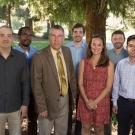 New College of Biological Sciences faculty stand with Dean Mark Winey