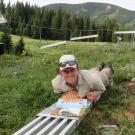 Anne Marie Panetta, '17 Ph.D., studies the effects of climate warming on northern rock jasmine wildflowers in the Colorado Rocky Mountains. Courtesy photo
