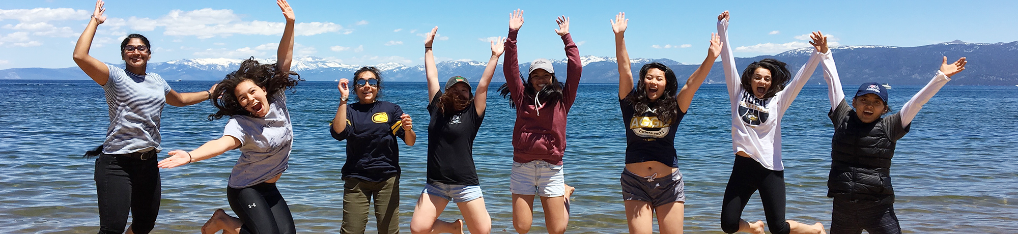 BioLaunch students visit Lake Tahoe during a water quality sampling field tri